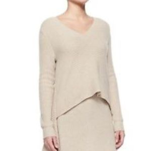 S Cashmere blend asymetrical sweater